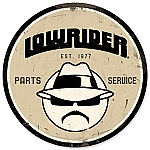 Lowrider Parts & Service Vintage Metal Sign