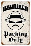 Lowrider Parking Vintage Metal Sign