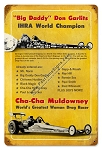 Cha Cha Muldowney & Don Garlits Metal Sign