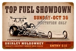 Top Fuel Showdown Vintage Metal Sign