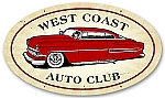 West Coast Auto Club Vintage Metal Sign