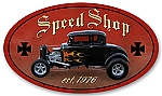Speed Shop Vintage Metal Sign