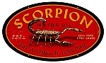 Scorpion Motor Oil Vintage Metal Sign