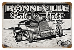 Bonneville Salt Flats Vintage Metal Sign