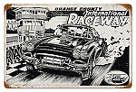 International Raceway Vintage Metal Sign
