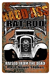 Bad Ass Rat Rod Vintage Metal Sign