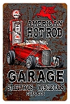 Hot Rod Mobile Gas Vintage Metal Sign