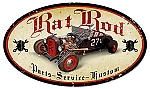 Rat Rod Parts Vintage Metal Sign