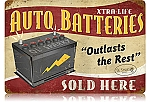 Auto Batteries Vintage Metal Sign