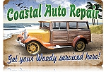 Coastal Auto Repair Vintage Metal Sign