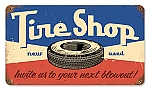Tire Shop Vintage Metal Sign