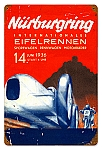 Nurburgring 1936 Vintage Metal Sign