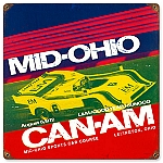 Mid Ohio Can Am Vintage Metal Sign