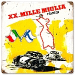 Mille Miglia Vintage Metal Sign