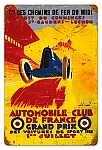 France Grand Prix Vintage Metal Sign