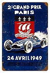 Grand Prix Paris Vintage Metal Sign