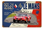 24 Hours At Le Mans Vintage Metal Sign