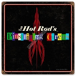 Von Hot Rod Pinstripe Circus Metal Sign