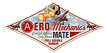 Aero Mechanic Pinup Girl Vintage Metal Sign