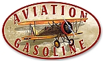 Aviation Gasoline Vintage Metal Sign