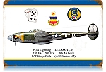 P-38 Dugald Camero Vintage Metal Sign