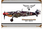 BF-109 Messerschmitt Vintage Metal Sign