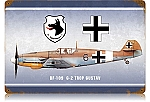 BF-109 Trop Gustav Vintage Metal Sign