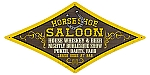 Horse Shoe Saloon Vintage Metal Sign