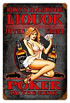 Roxie's Roadhouse Vintage Metal Sign
