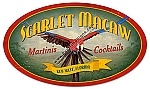 Scarlet Macaw Vintage Metal Sign