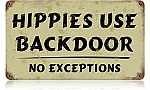 Hippies Vintage Metal Sign