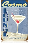 Cosmo Lounge Vintage Metal Sign