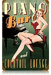 Piano Bar Vintage Metal Sign