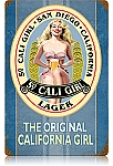So. Cali Girl Vintage Metal Sign