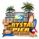 San Diego Crystal Pier Vintage Metal Sign