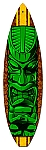 Green Tiki Vintage Metal Sign