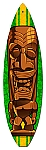 Brown Tiki Vintage Metal Sign