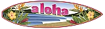 Aloha Waves Vintage Metal Sign