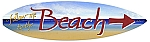 Beach Arrow Surfboard Metal Sign