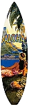 Hawaii Aloha Surfboard Metal Sign