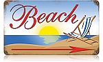 Beach Vintage Metal Sign