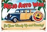 Mojo Woody Wax Vintage Metal Sign