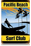Pacific Beach Surf Club Vintage Metal Sign
