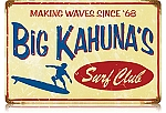 Big Kahuna's Vintage Metal Sign