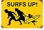 Surf's Up Vintage Metal Sign
