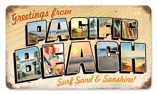 CUSTOM BEACH SIGN Vintage style Beach Sign by