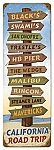 California Road Trip Vintage Metal Sign