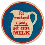 Vitamy Milk Vintage Metal Sign