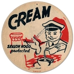 Cream Vintage Metal Sign