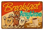 Breakfast Anytime Vintage Metal Sign